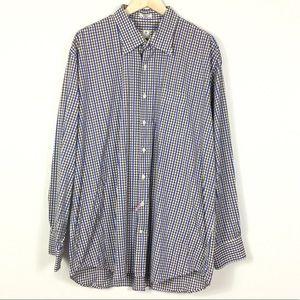 Peter Millar checkered button down shirt XXL